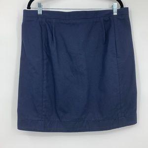Tish Cox skirt XL straight navy blue short zip